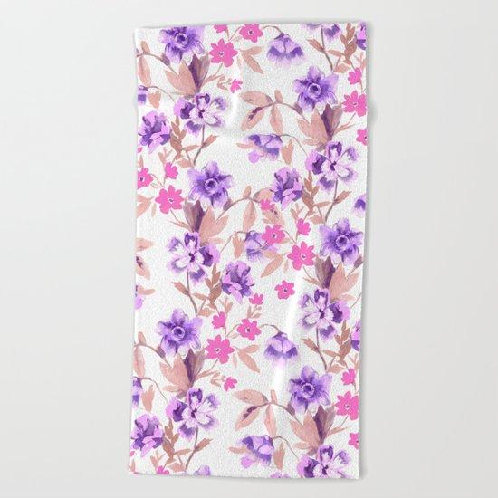 Garden Journal Purple Beach Towel