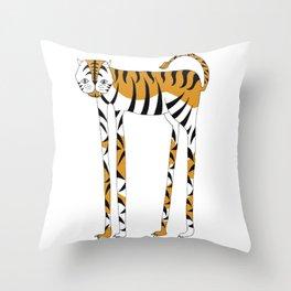Long legs Tiger Throw Pillow