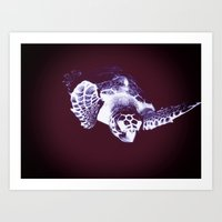 sea turtle Art Prints featuring Sea Turtle by DistinctyDesign