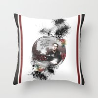 panic at the disco Throw Pillows featuring Panic! At The Disco by Andrea Valentina