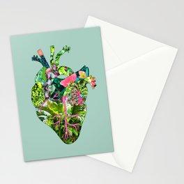 Botanical Heart Mint Stationery Cards