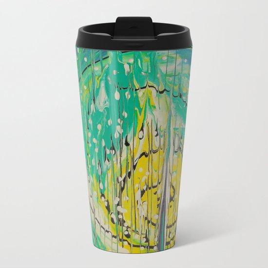 Free abstract Metal Travel Mug