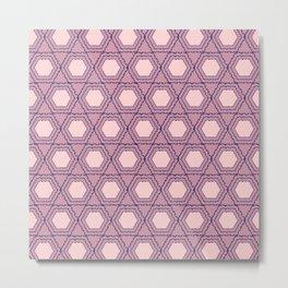 Modern Pink Purple Honeycomb Hexagon Geometric Metal Print