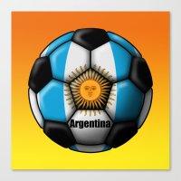 argentina Canvas Prints featuring Argentina Ball by kuuma