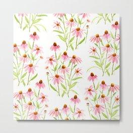Cone Flower Pink Metal Print