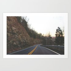 mountain roads Art Print