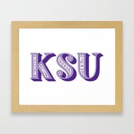 Kansas State University Framed Art Print