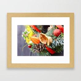 Christmas decorative wreath Framed Art Print