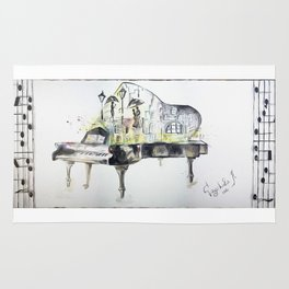 Grand piano Rug