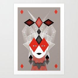 The Queen of diamonds Art Print