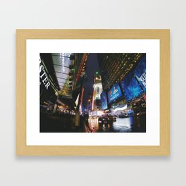 Times Square Street View at night Framed Art Print