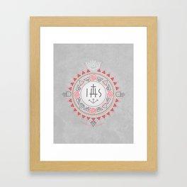 Religious symbols composition Framed Art Print