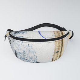 Polish Lines Abstract Collage Fanny Pack