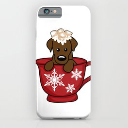 snuggle up with a pup iPhone Case