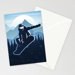 Royal Skiing - Attitude - Ski Snowboard Fly Skyline Stationery Cards