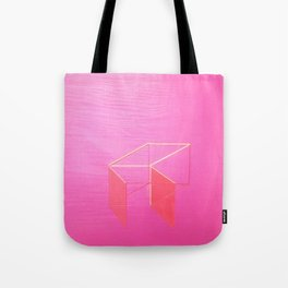 Little Boxes Exploded fuchsia & gold Tote Bag