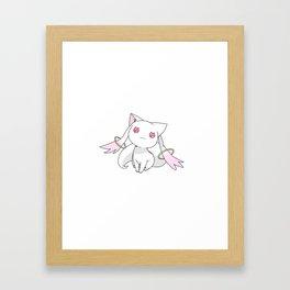 Kyubey Cat Framed Art Print