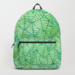 Green foliage watercolor Backpack