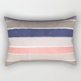 Sofie - Modern watercolor abstract painting brushstrokes feminine pop dorm college hipster art pink Rectangular Pillow