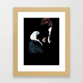 22- meeting of hands Framed Art Print