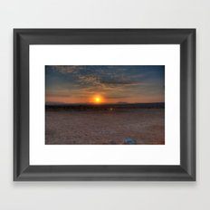 Sunrise Over The Negev Framed Art Print
