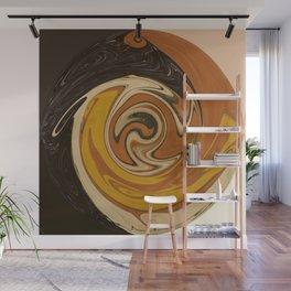 Circle of Browns Wall Mural