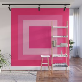 Pink Square Design Wall Mural