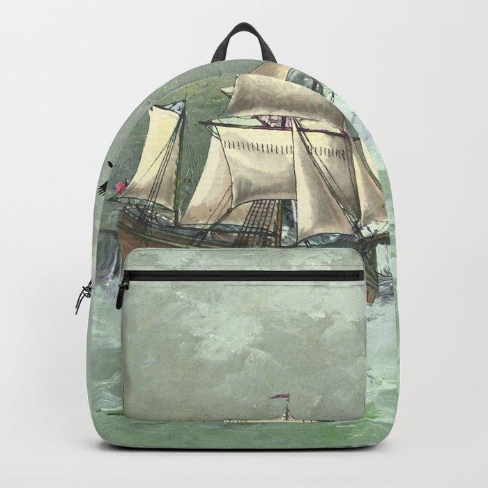 Breaking waves still Backpack