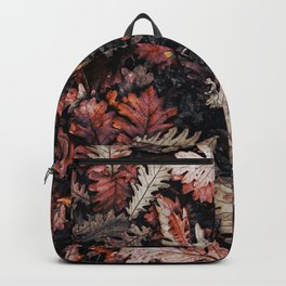 Autumn to winter dry leaves Backpack