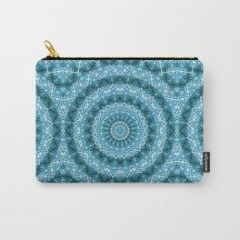 Light Blue Kaleidoscope / Mandala Carry-All Pouch