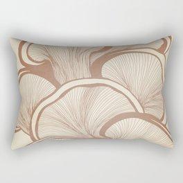 Mushrooms in Copper Rectangular Pillow