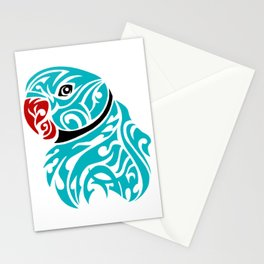 Blue ringneck parrot tattoo Stationery Cards