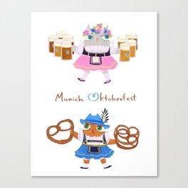Munich Kitties Canvas Print