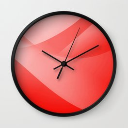 Red Wallpaper Wall Clock