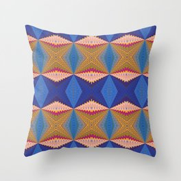 African Retro Geometric Bliss Print 1 Throw Pillow