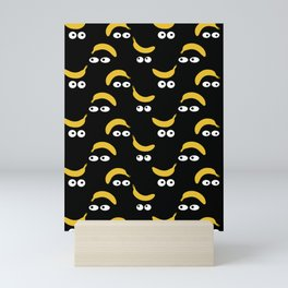 Banana eyes illustration - Girl Gang Prints Mini Art Print