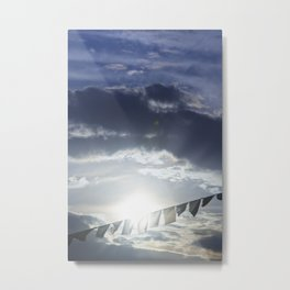 Prayer Flags at Sunset Metal Print