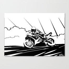 Motorcycle Race Canvas Print
