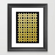 Golden Snow Framed Art Print