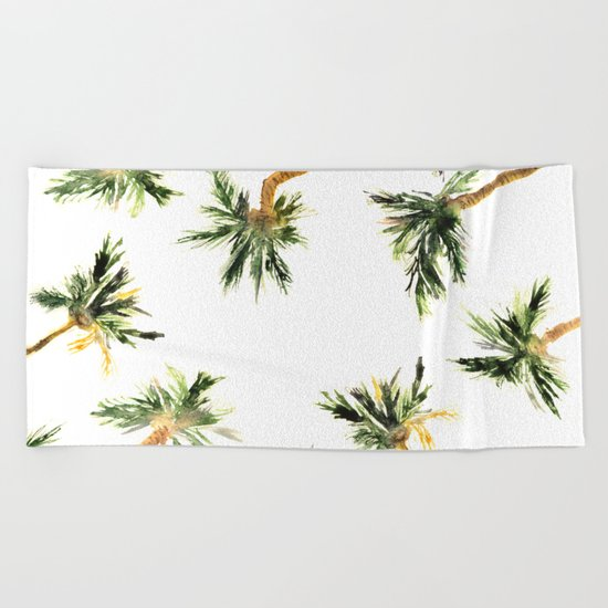 Under the coconut palms Beach Towel