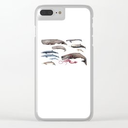 Deep sea whales Clear iPhone Case