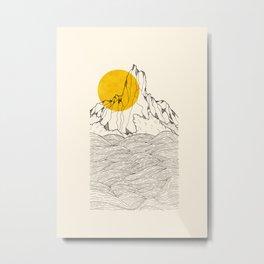 The peak and the waves Metal Print