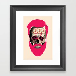 THE AUTUMN BIKER Framed Art Print