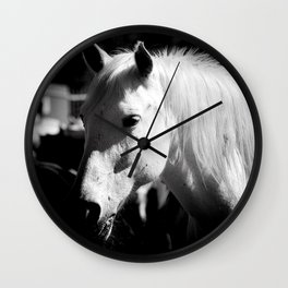 White Horse-Dark Wall Clock