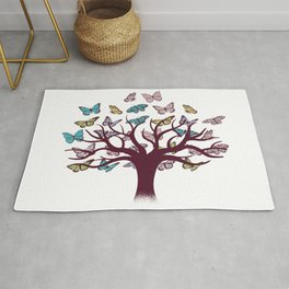 Butterflies tree Rug
