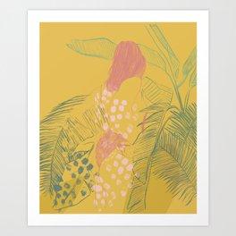 Sun Bather Art Print