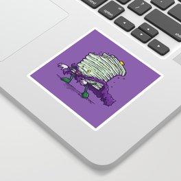 Captain Zombiecake Sticker