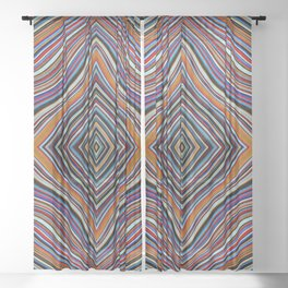 Wild Wavy Diamonds 15 Sheer Curtain