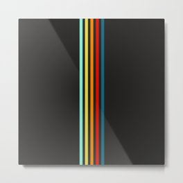 Einherjar - Multicolor Stripes Metal Print
