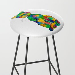 Rainbow Cat Bar Stool